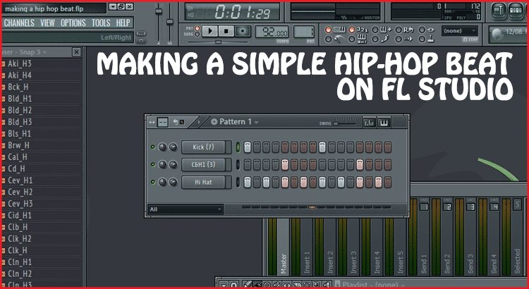 Making a simple Hip Hop Beat on FL Studio video tutorial
