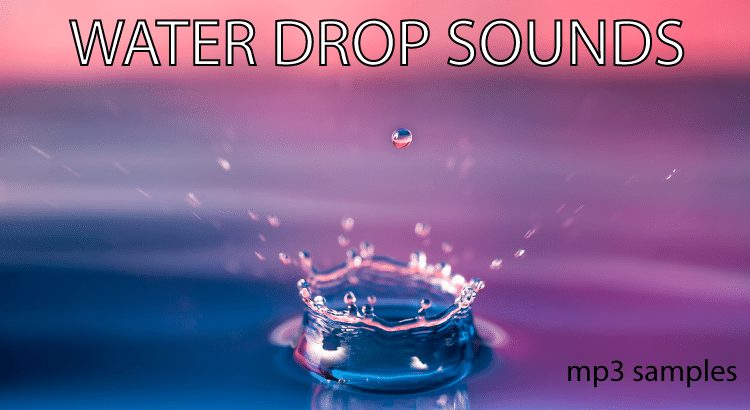 Download water drop free sounds