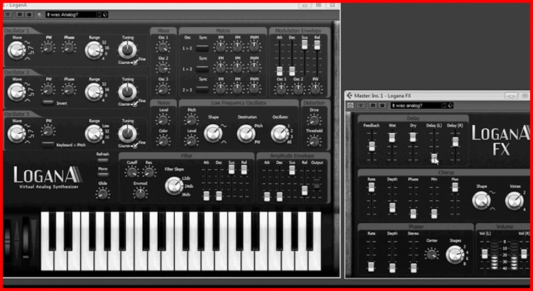 Free VST for music producers Logana