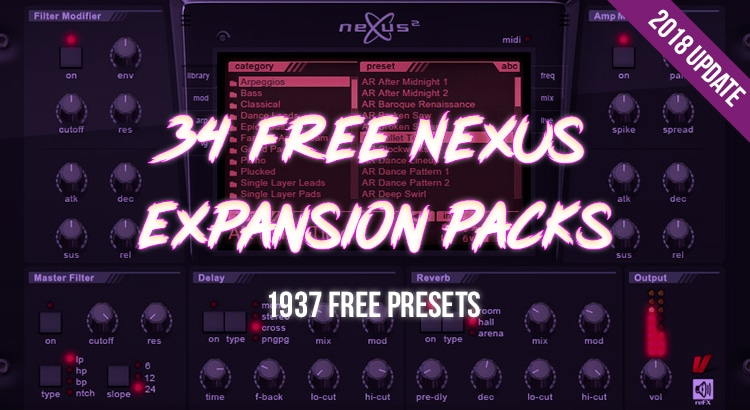 Download 1925 Nexus Presets - 34 FREE Nexus Expansion Packs