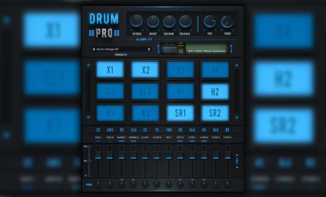 Drum Pro : make techno house elctro drums