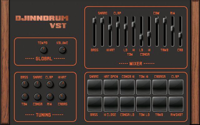 Djindrum software for making linn L1 beats