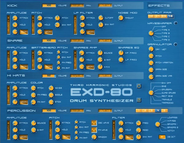 EDX Drum Synth VST