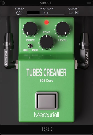 Tubes Creamer 808 Core is an emulation of the famous Tube Screamer distortion.