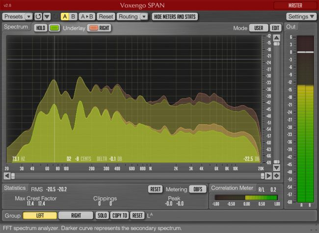 Voxengo Span - a free spectrum analyzer plugin vet