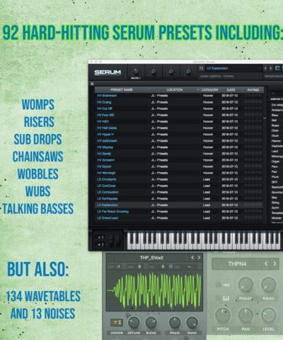 Create your future Dubstep Hit with 92 presets for Serum