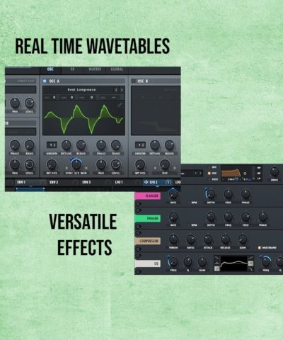 Serum includes Real Time Wavetables And Versatile Effects