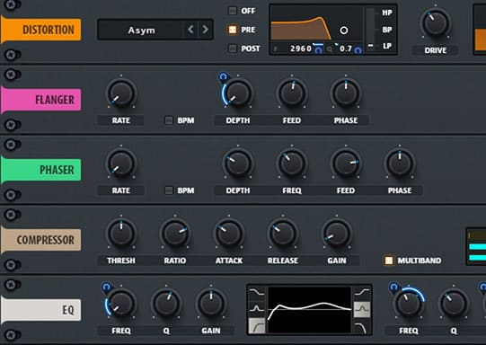 An effects rack with 10 effects modules lets you get your sound all the way to the finish line inside Serum