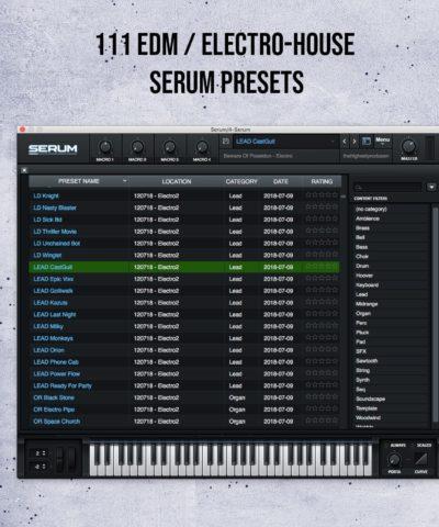 111 EDM Electro House Serum Presets