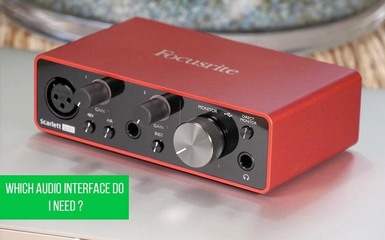 The Focusrite Scarlett Solo the best audio interface