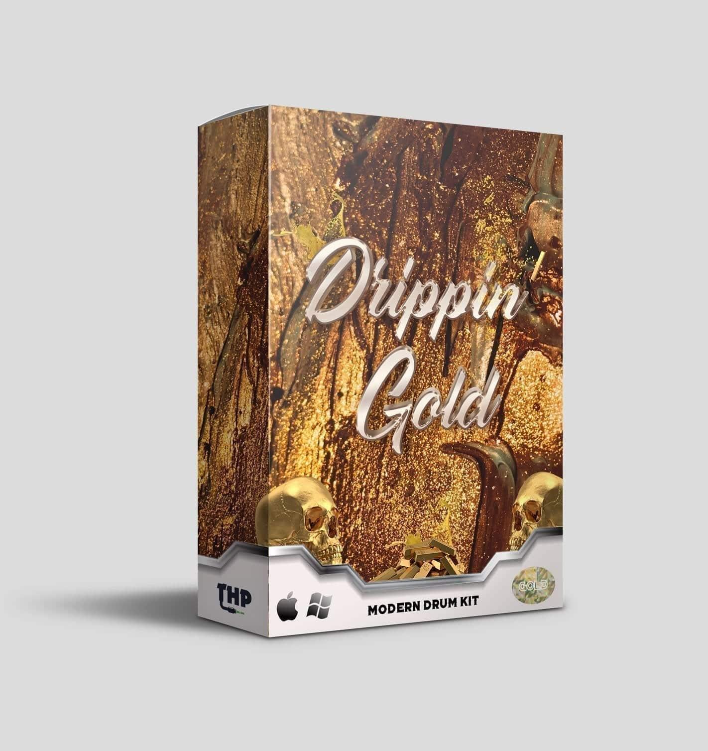 Drippin' Gold Drum Kit