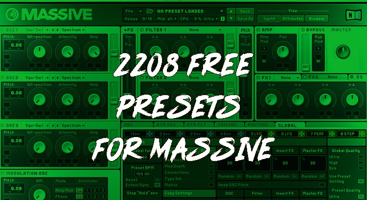 The Ultimate List of Free Massive Presets